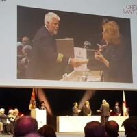 Lliurament de la Creu de Sant Jordi al degà de la Facultat de Nàutica de Barcelona Agustí Martín Mallofré. Barcelona. 2019