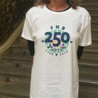 Samarreta del 250 aniversari de la Facultat de Nàutica de Barcelona. 2019