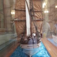Model de la bricbarca Pepito vista des de popa. 2019