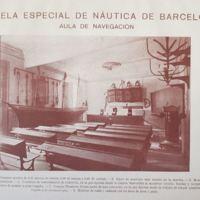Imatge de l'aula de navegació extreta de la memória de la Escuela Especial de Náutica de Barcelona. 1922-1923.