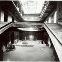 Interior del vestíbul en construcció de la Escuela Oficial de Nàutica de Barcelona. 1932