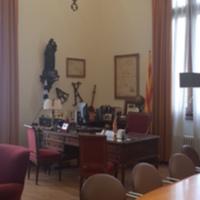 Vista parcial del despatx del degà de la Facultat de Nàutica de Barcelona. 2019