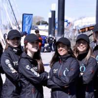 Equip femení de vela de la Facultat de Nàutica de Barcelona. 2019.