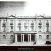 Maqueta del projecte de l'edifici de la Escuela Oficial de Náutica de Barcelona i Instituto Náutico del Mediterráneo. 1931