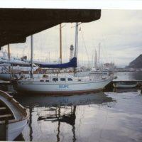 """Vaixell de pràctiques de la Facultat de Nàutica de Barcelona """"Barcelona"""" al Moll d'Espanya (Port de Barcelona)"""