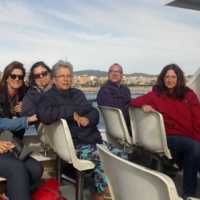 Personal d'administració i serveis a la sortida dels professors i personal d'administració i serveis de la Facultat de Nàutica de Barcelona en Golondrina. 2019