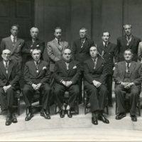 Professors de la Escuela Oficial de Náutica amb el director Francisco Condeminas Mascaró