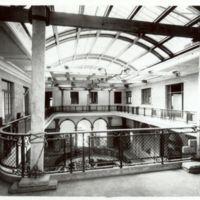 Interior de la segona planta en construcció de la Escuela Oficial de Nàutica de Barcelona. 1932