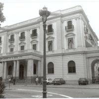 Façana principal de la Escuela Superior de la Marina Civil. 1981