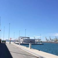 Edifici de l'Espai Vela de la Facultat de Nàutica de Barcelona durant la seva construcció, en un estat avançat de les obres. 2019