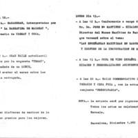 Programa d'actes del cincuentenari de l'edifici de la Escuela Superior de la Marina Civil. 1982