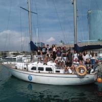 Estudiants de visita al vaixell Barcelona. 2019.