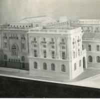 Maqueta del projecte de l'edifici de la Escuela Oficial de Náutica de Barcelona. 1931