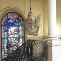 Detalls decoratius des del primer pis de la Facultat de Nàutica de Barcelona. 2019